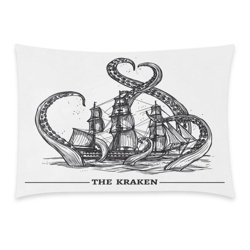 ZKGK Home Bathroom Decor Sea Octopus Kraken Pillowcases Decorative Pillow Cover Case Shams... by ZKGK