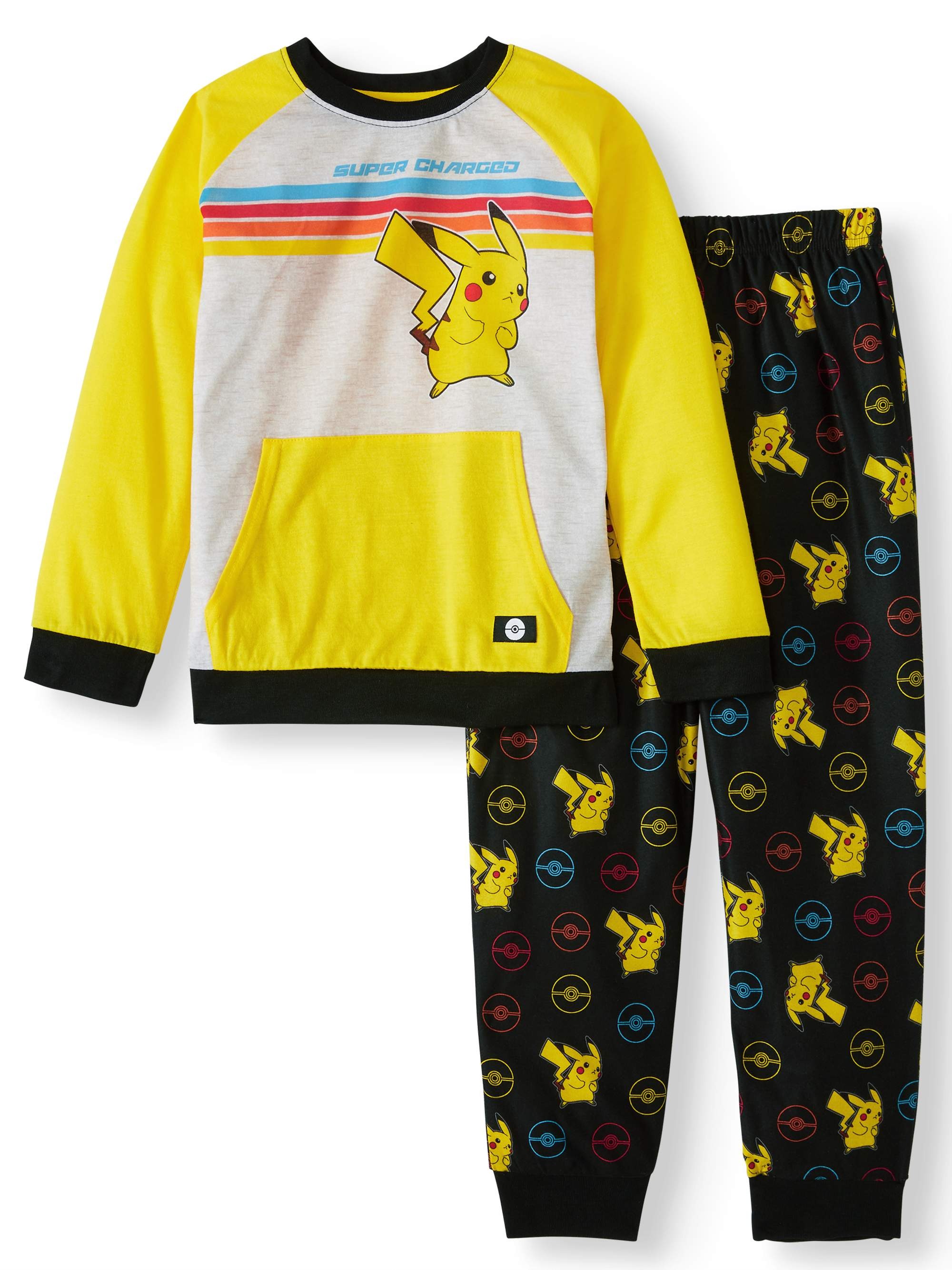 YOUTH POKEMON BOYS 2-PIECE PAJAMA SET SIZE 10-12