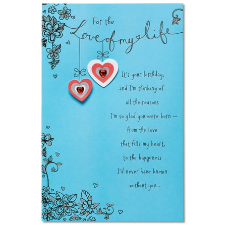 American Greetings Love Of My Life Birthday Card With Glitter