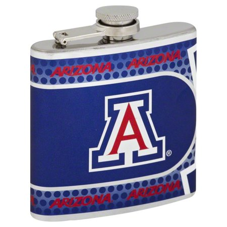 Great American Products 6 Ounce NCAA of Arizona Hip Flask, 1 flask - Great American Products Hip Flask