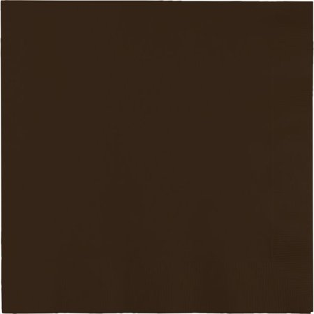 Touch of Color Lunch Napkins, 3-Ply, Chocolate Brown, 50 (Chocolate Brown Dial)