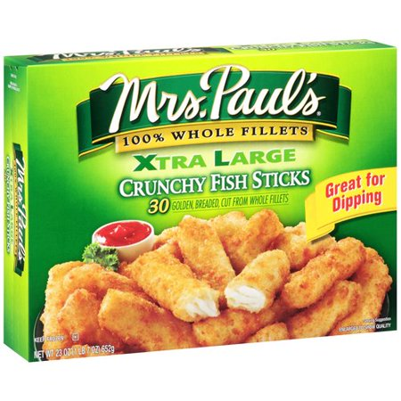 Mrs Pauls Xtra Large Crunchy Fish Sticks 30 Ct 23 Oz Walmart