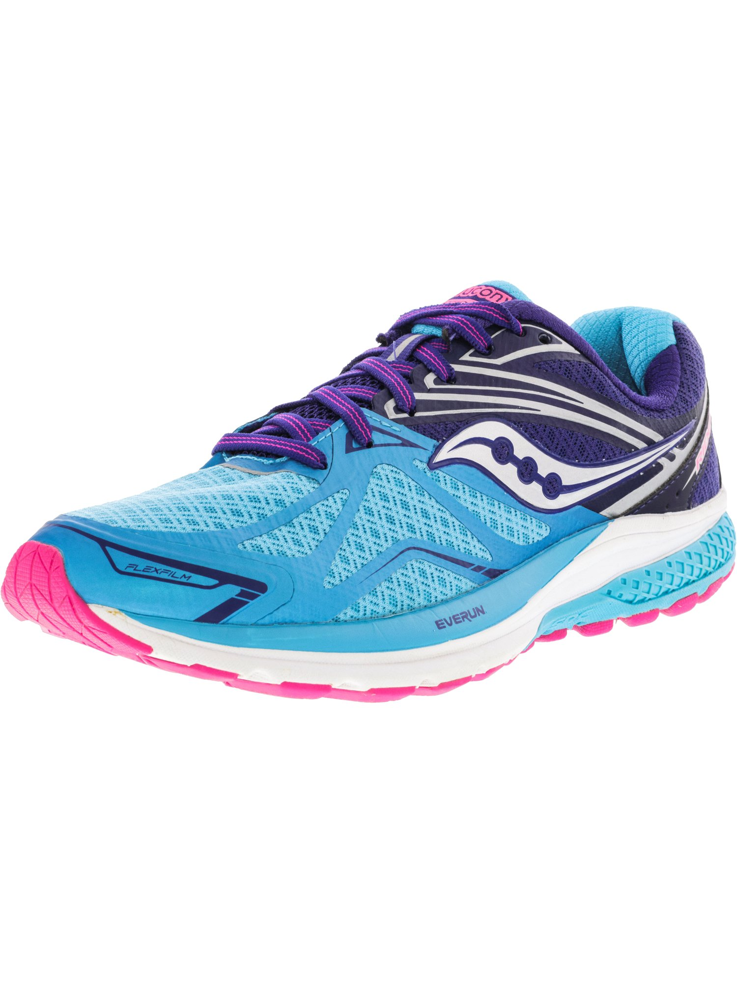 Saucony Women's Ride 9 Navy / Blue Pink Ankle-High Running Shoe - 5N