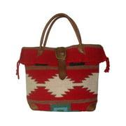 Red Wool-Blend Roamer Tote Bag