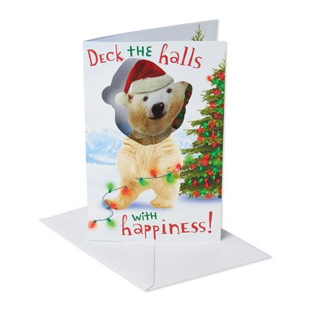 American Greetings Dancing Polar Bear Christmas Greeting Card with Music ()