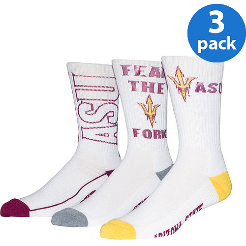Arizona State University Men's Crew Sock 3 Pack
