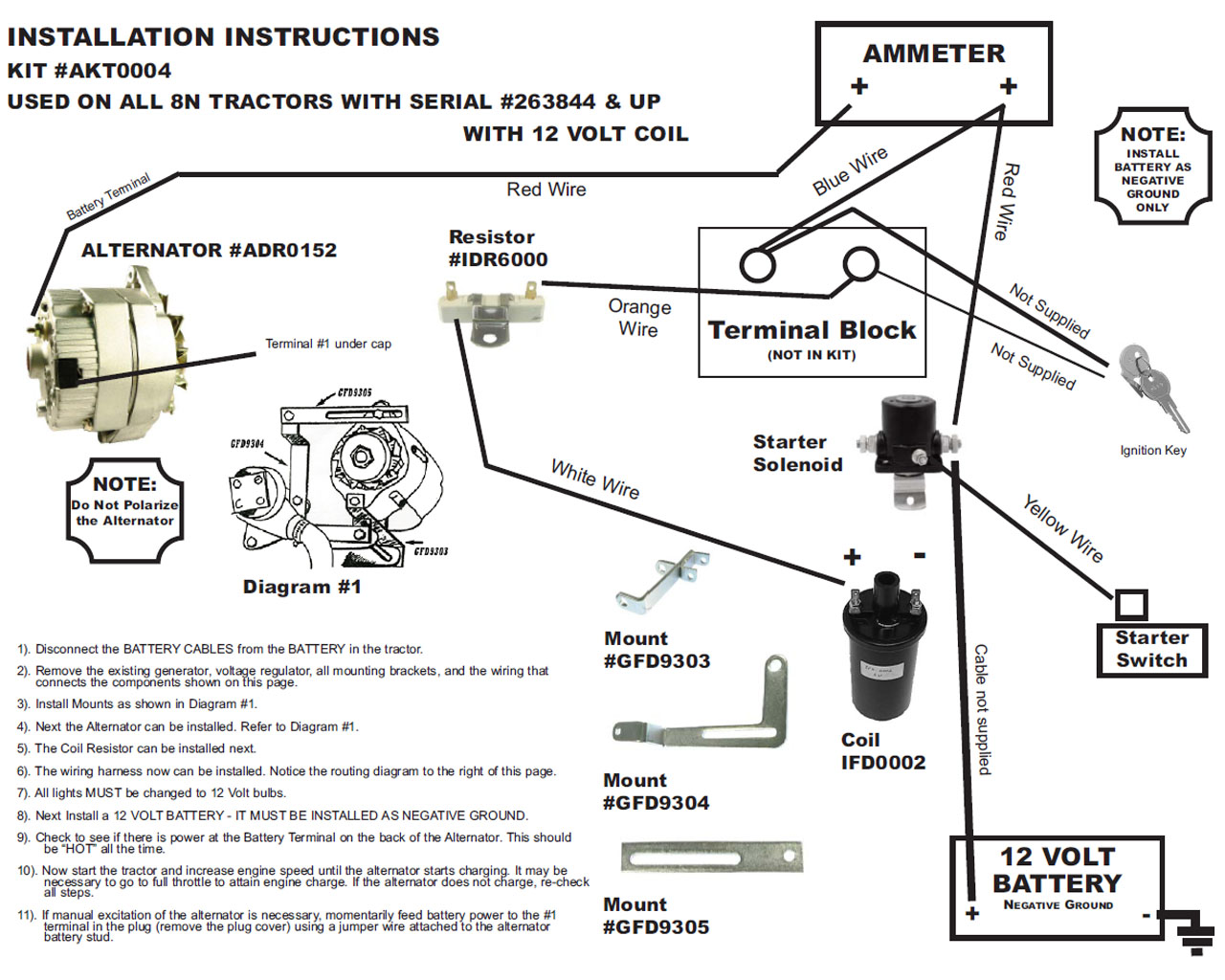 Wiring Diagram 6 Volt Generator To 12 Alternator Trusted Volkswagen Negative Ground Auto Electrical Vw Conversion Db