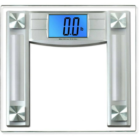 Balancefrom Bfha B400 Bfha B400bt High Accuracy Bathroom Scale  4 3   Extra Large Cool Blue Backlight Display  Black