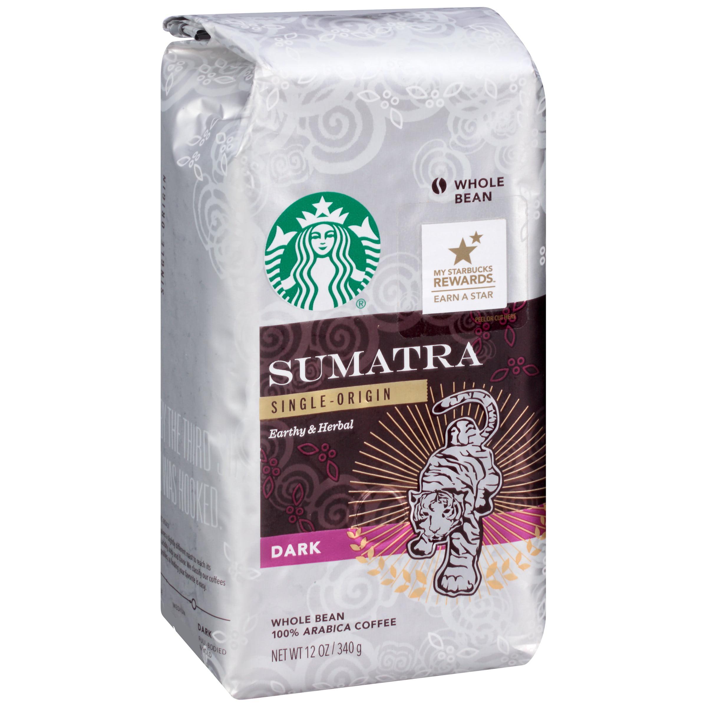Sumatra Single-Origin Earthy & Herbal Dark 12 oz. Whole Bean Package