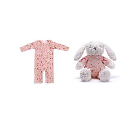 Baby Bunny Pajamas (Demdaco Baby Love You to The Moon & Back Bunny & Pajama Gift Set,)