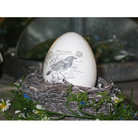 Framed Art For Your Wall Egg Easter Porcelain Easter Egg Decoration 10x13 - Decorations For Easter