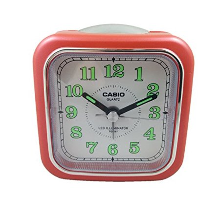 casio tq 157 4 table top travel alarm clock red. Black Bedroom Furniture Sets. Home Design Ideas