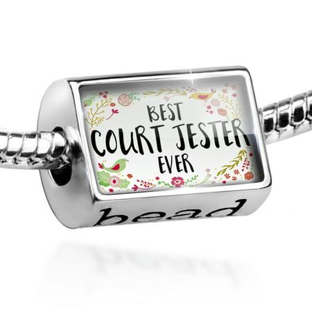 Bead Happy Floral Border Court Jester Charm Fits All European Bracelets