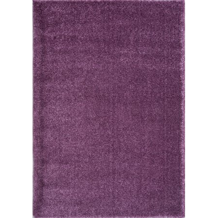 Cheap Purple Carpet (Ladole Rugs Soft Plush Smooth Solid Plain Color Modern Durable Area Rug Carpet for Living Room Bedroom in Purple, 7'10