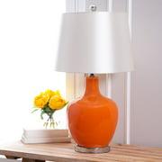 Devon & Claire Stevie Orange Glass Table Lamp