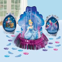 Cinderella Birthday Party Centerpieces and Confetti Table Decorations