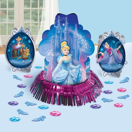 Cinderella Birthday Party Centerpieces and Confetti Table Decorations](Cinderella Birthday Party)