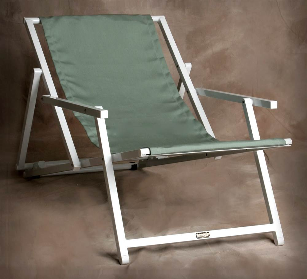 Multi-Position Savannah Sling Chair with Arms in Spa