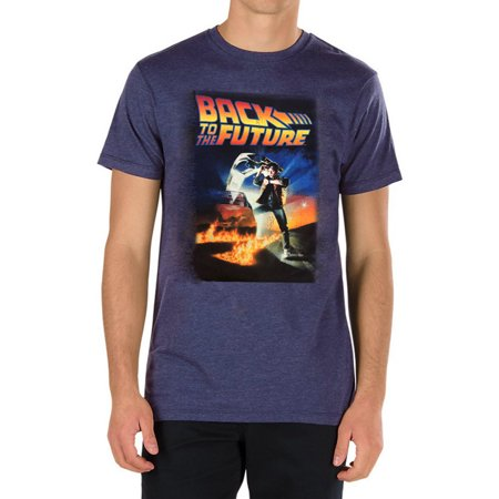 Back To The Future Marty McFly DeLorean Time Travel Men's T-Shirt - Black - Back To The Future Merchandise