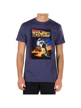 0bb89b12a5 Product Image Back To The Future Marty McFly DeLorean Time Travel Men's T- Shirt - Black