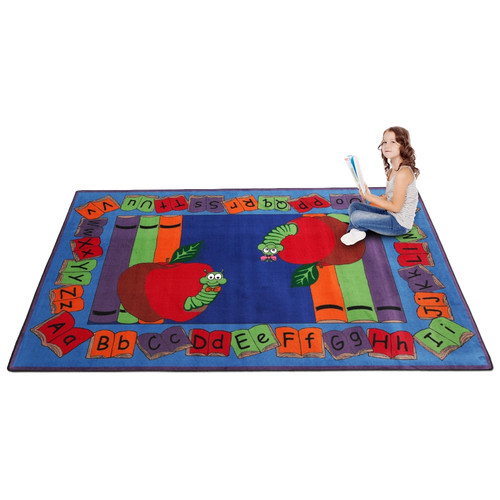 Kid Carpet Let's Book It Story Kids Rug