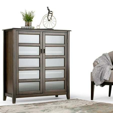 Simpli Home Burlington Medium Storage Cabinet (Halloween Store Burlington)