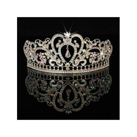 LuckyFine Crystal Wedding Tiara Crown Prom Pageant Princess Crowns Bridal Veil Headband - On Sale - Ugg Headband Sale