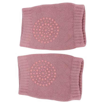 Newborn Kids Girls Boys Anti-slip Knee Stockings Baby Knee Pads Crawling Socks(Pink)