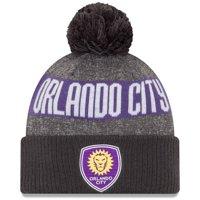 Orlando City SC New Era 2019 On-Field Cuffed Knit Hat with Pom - Gray/Charcoal - OSFA