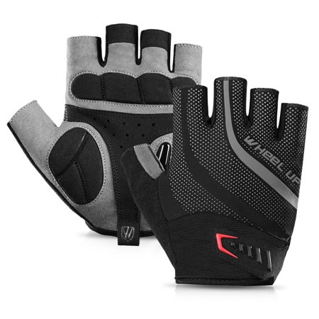1 Pair Bike Gloves Half Finger Anti-skid Gloves Bicycle Cycling Riding Motorcycle Shockproof Sports Mitt Fingerless