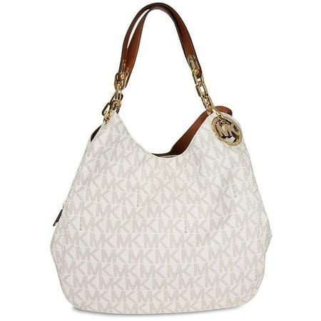 Michael Kors Fulton Large Logo Shoulder Bag in Vanilla - 30H4GFTL3B-150