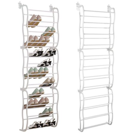 SortWise 36-Pair Shoe Rack Over The Door Shoe Shelf Storage Organizer, White - image 5 of 5