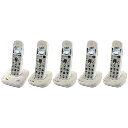 Clarity D702 + (4) D702HS D702 Amplified Low Vision Cordless Phone by