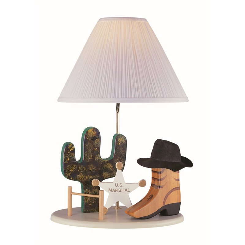 Lite Source Cowboy Table Lamp in Beige