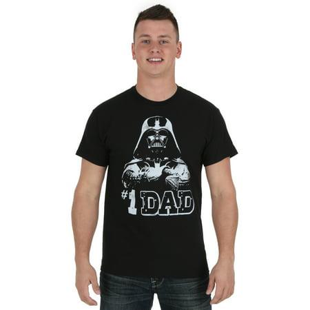 Darth Vader #1 Dad Men's T-Shirt (Darth Vader T Shirt)