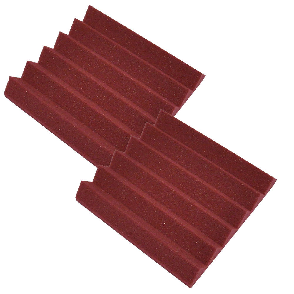 Seismic Audio 2 Pack of Burgundy 2 Inch Studio Acoustic Foam Sheets Sound Absorbing Dampening Tiles Burgundy - SA-FMDM2-Burgundy-2Pack
