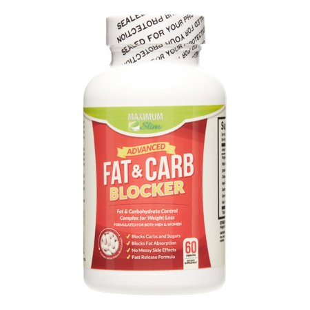 Maximum Slim Fat and Carb Blocker Weight Loss Pills, 60