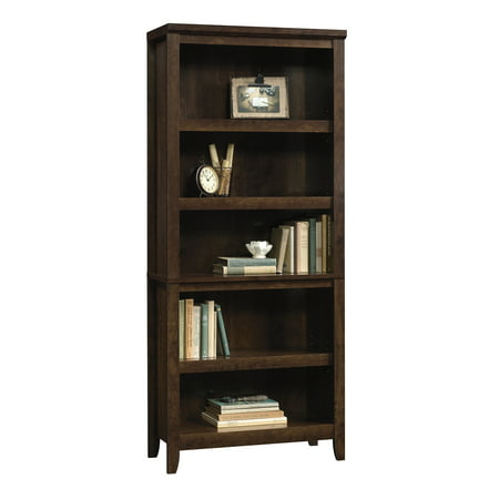 Better Homes & Gardens Parker 5 Shelf Bookcase, Estate Toffee Finish