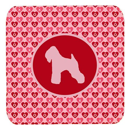 Wheaten Terrier Soft Coated Valentine Hearts Foam Coasters, Set - 4 - image 1 de 1