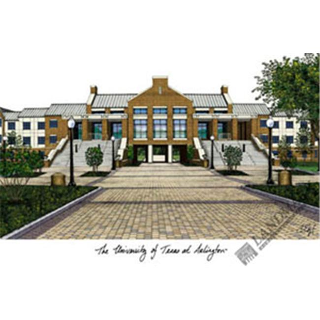 University of Texas  ArlingtonCampus Images Lithograph Print