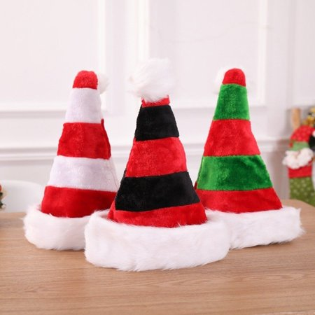 Christmas Cap Thick Ultra Soft Plush Cute Santa Claus Holiday Fancy Dress Hat
