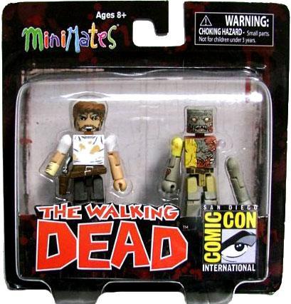The Walking Dead Minimates Exclusives Rick Grimes & Zombie Minifigure 2-Pack