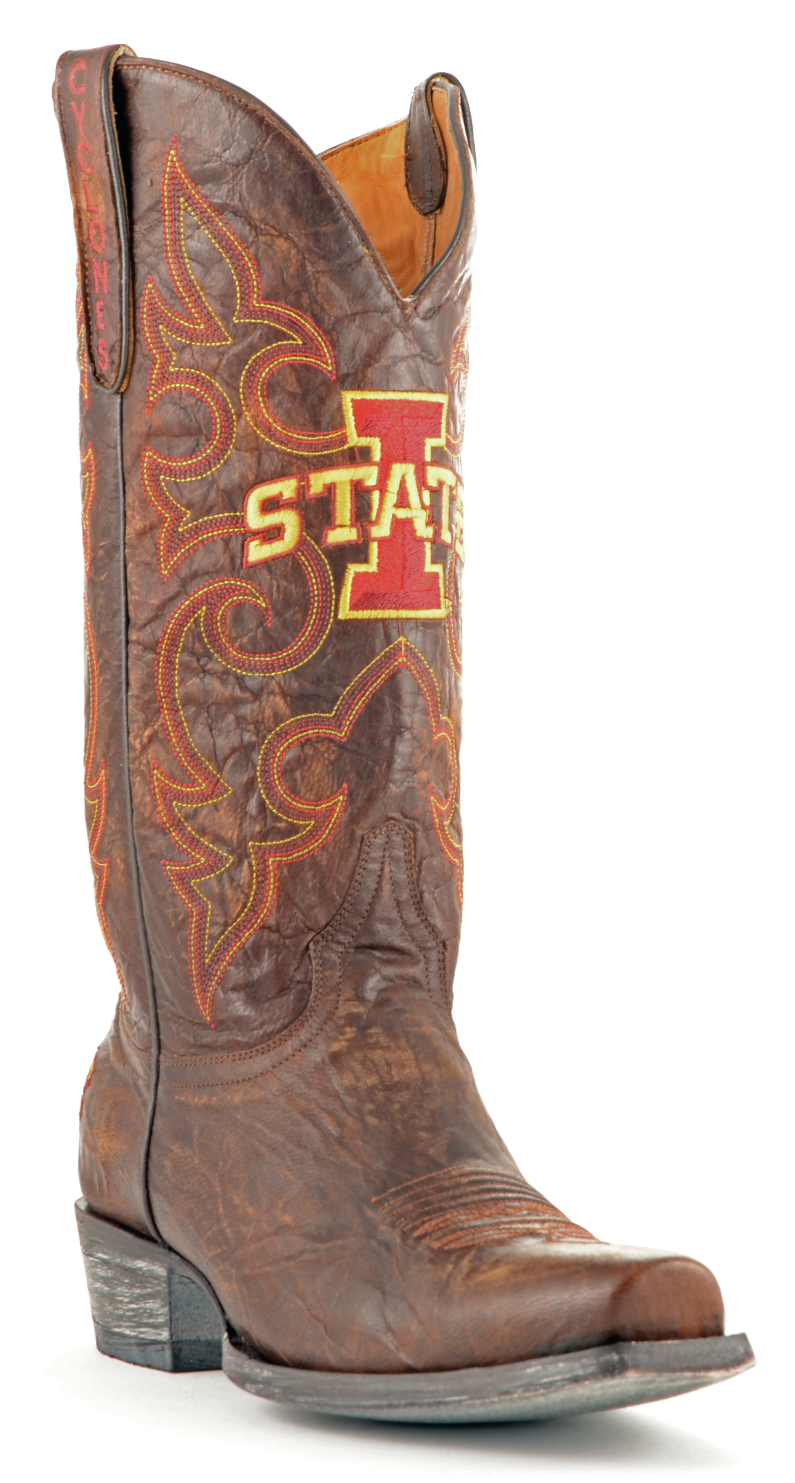 ncaa iowa state cyclones men's board room style boots, brass, 8.5 d (m) us by GameDay Boots