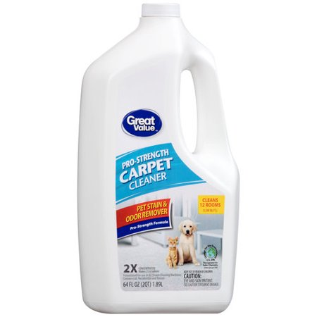 Great Value Pro-Strength Pet Stain & Odor Remover Carpet Cleaner, 64 fl oz