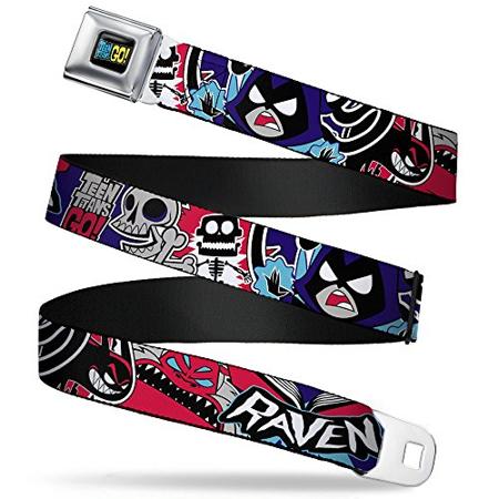 Teen Titans Seatbelt Belt - GO! RAVEN w/ Demon & Trigon - Raven Cosplay Belt