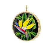 Coastal Tropical Bird of Paradise Decor Ceiling Fan Light Pull