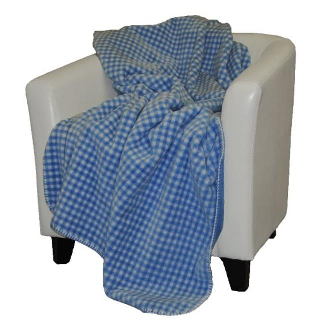 Denali Home Collection 16112550 Gingham Light Yellow Double Side Microplush Throw