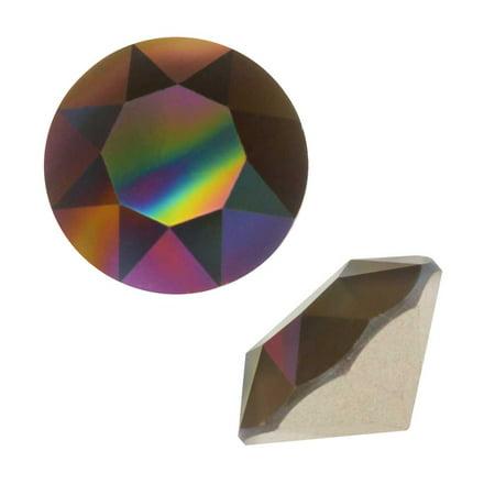 Swarovski Crystal, #1088 Xirius Round Stone Chatons ss39, 6 Pieces, Crystal Rainbow Dark (Swarovski Crystal Stone)