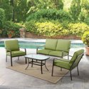 Mainstays Stanton Cushioned 4-Pc. Patio Conversation Set