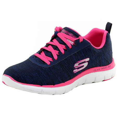 how to buy 50% off cheap price Skechers Women's Flex Appeal 2.0 Air-Cooled Memory Foam Navy/Pink Sneakers  Shoes